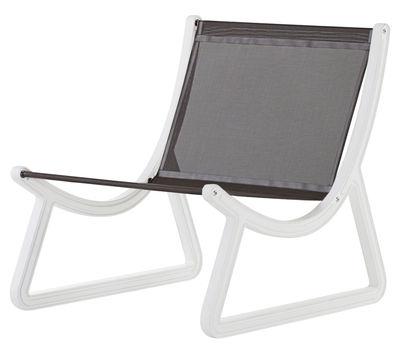 fauteuil bas dream line pour l 39 ext rieur tissu plastique tissu chocolat structure. Black Bedroom Furniture Sets. Home Design Ideas