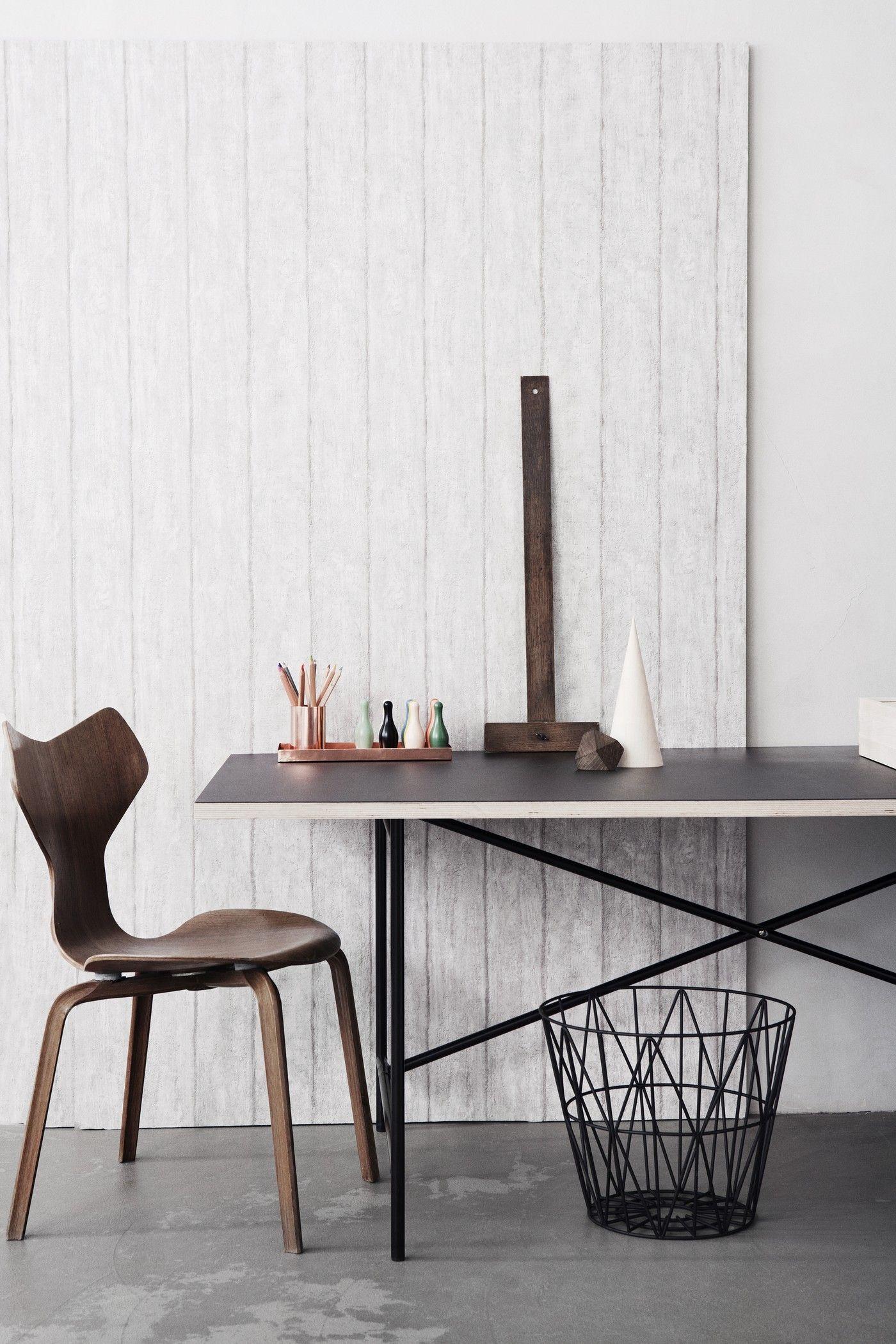 wire small 40 x h 35 cm ferm living korb. Black Bedroom Furniture Sets. Home Design Ideas