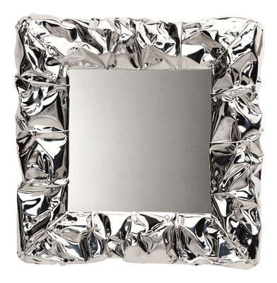 Miroir mural tabu u 50 x 50 cm chrom opinion ciatti for Miroir 50 x 90