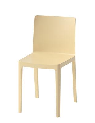 Chaise empilable Elementaire Hay jaune clair en matière plastique