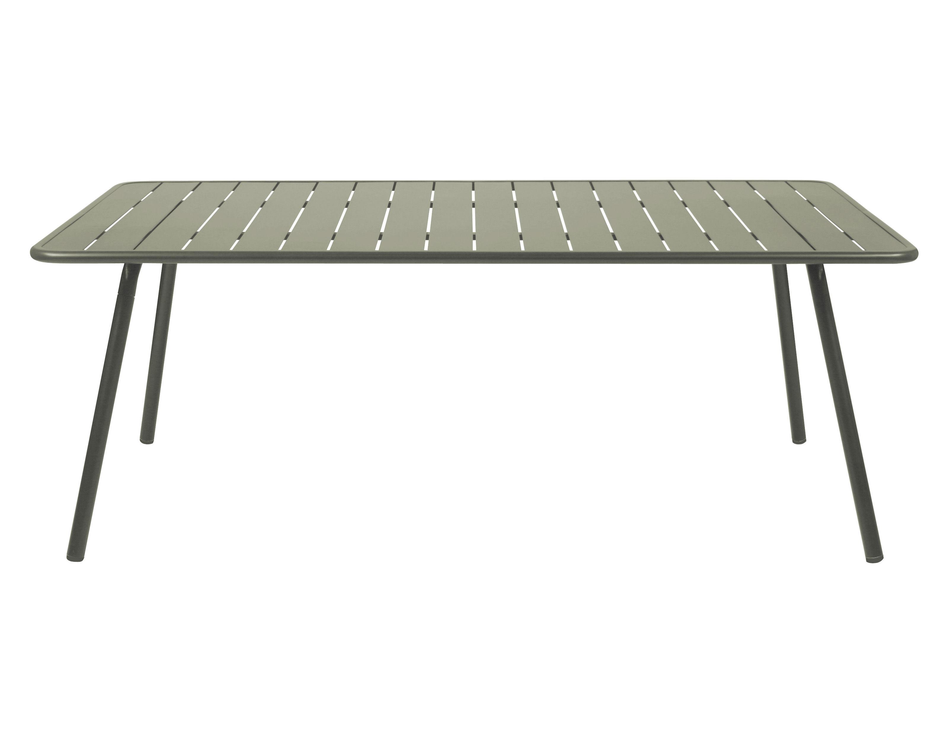 table luxembourg 8 personnes 207 x 100 cm aluminium savane fermob. Black Bedroom Furniture Sets. Home Design Ideas