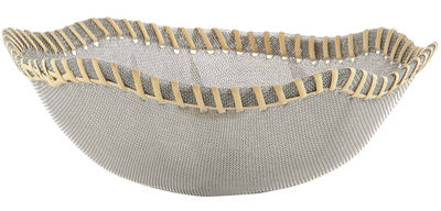 Tableware - Fruit baskets  - Peneira Basket by Alessi - Steel - Natural - Natural fibre, Steel chiffon