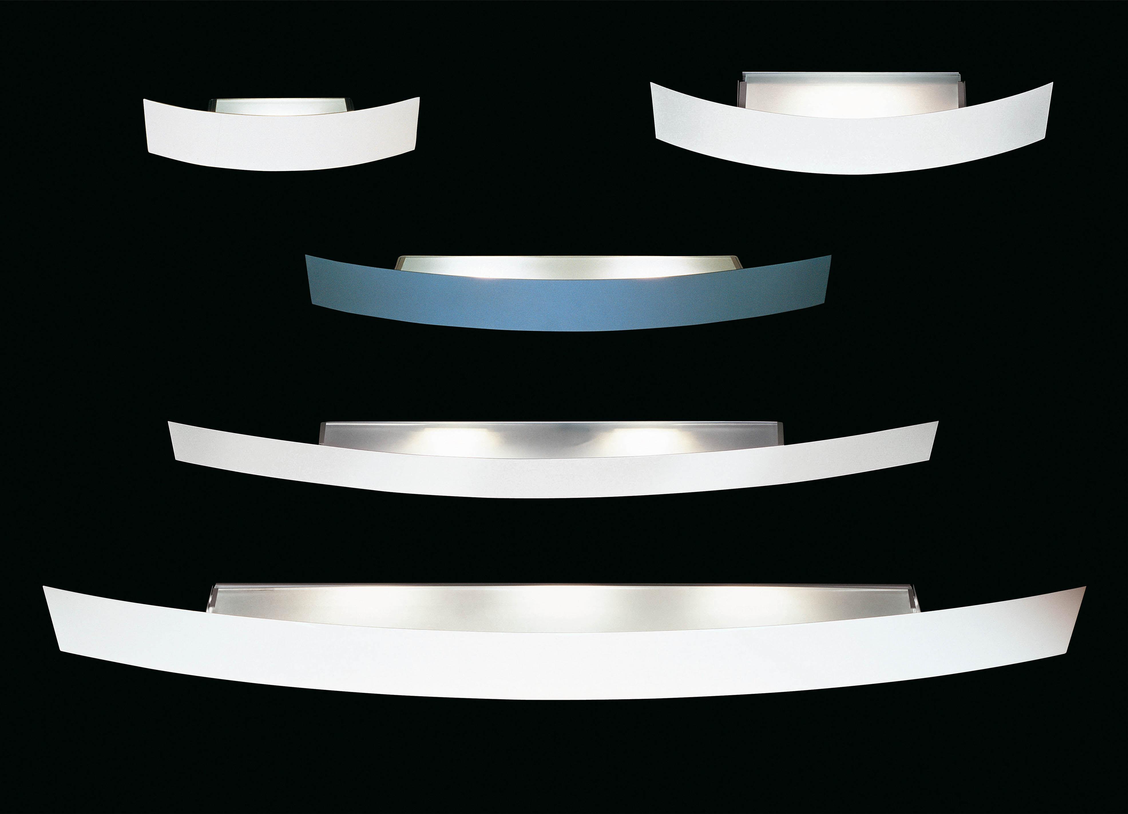 Scopri applique riga 56 cm metallo nichelato alogena for Fontana arte riga