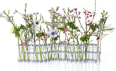 Vase d'avril Medium L 74 x H 15 cm Tsé Tsé transparent en métal