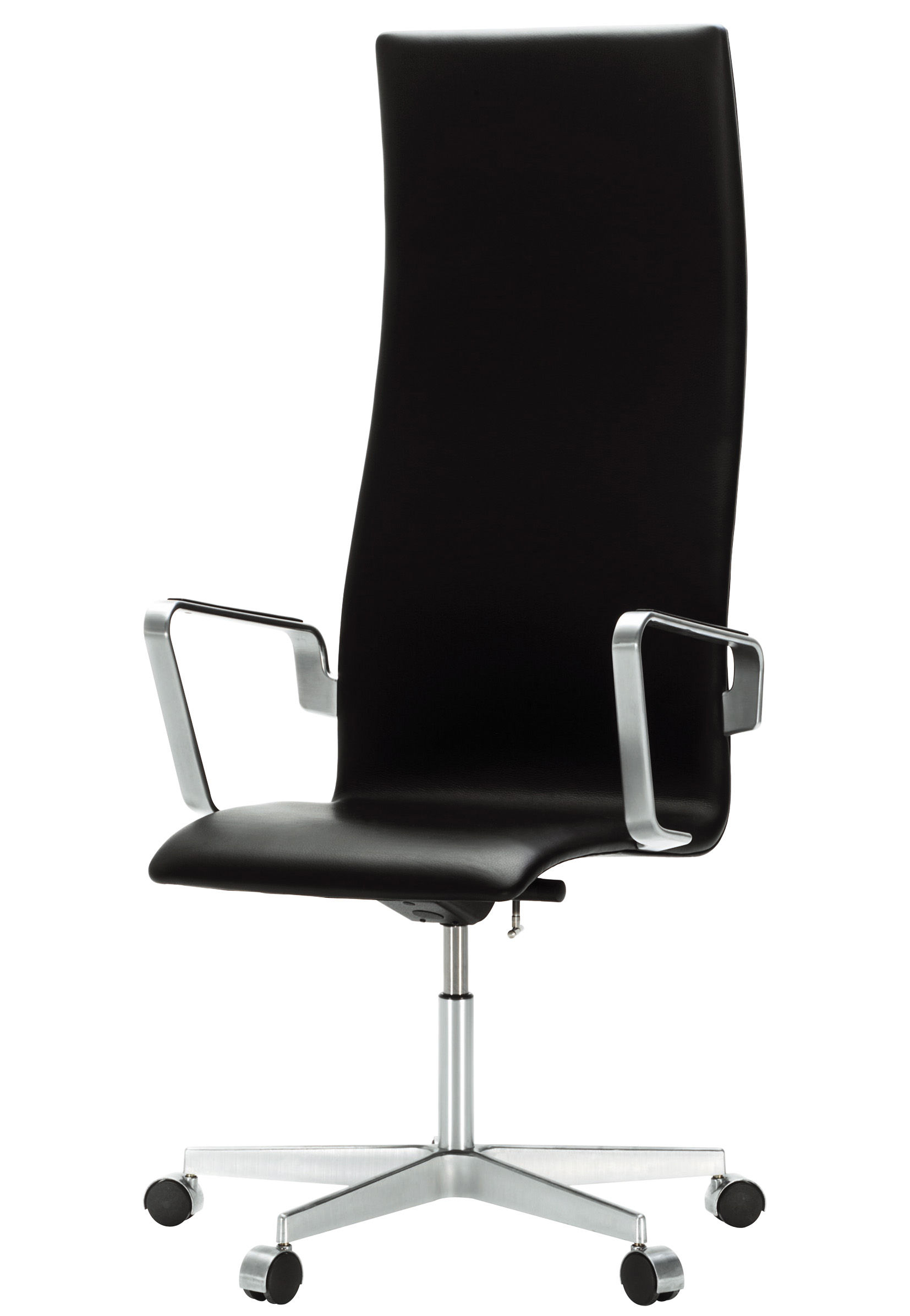 oxford gepolstert h henverstellbar fritz hansen sessel mit rollen. Black Bedroom Furniture Sets. Home Design Ideas