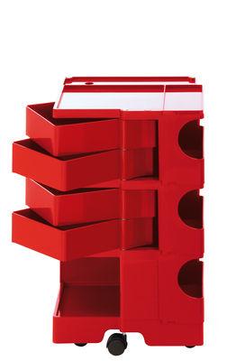 Desserte Boby / H 73 cm - 4 tiroirs - B-LINE rouge en matière plastique