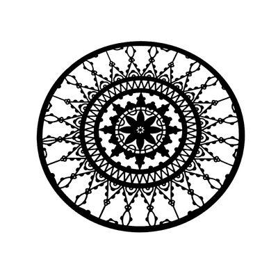 Dessous de verre Italic Lace / Ø 10 cm - Lot de 4 - Driade Kosmo noir en métal