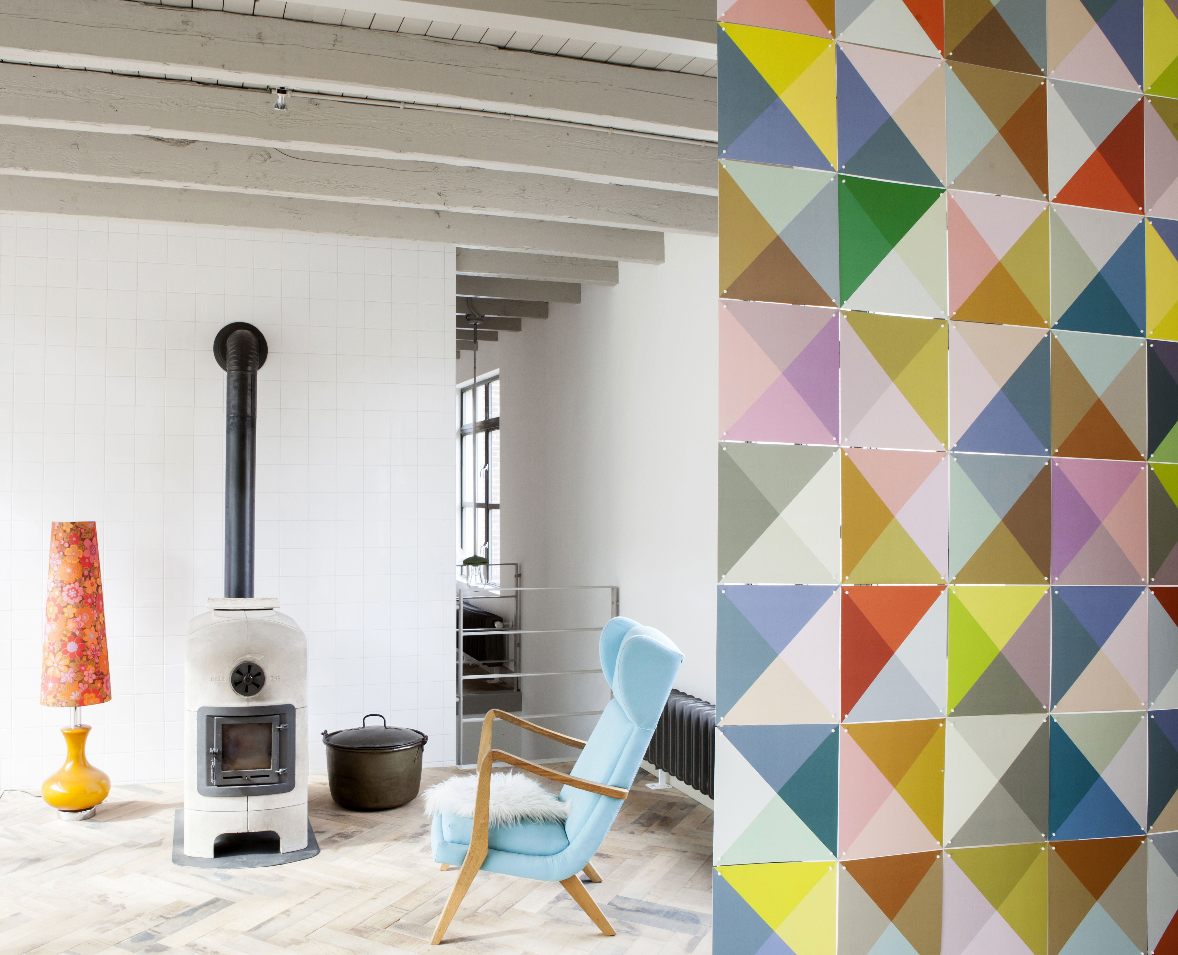 panneau d coratif loco 2 m multicolore ixxi. Black Bedroom Furniture Sets. Home Design Ideas