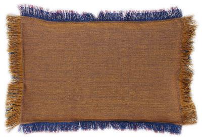 Déco - Coussins - Coussin Fray / 45 x 30 cm - Hay - Ambre / Indigo - Laine, Mousse