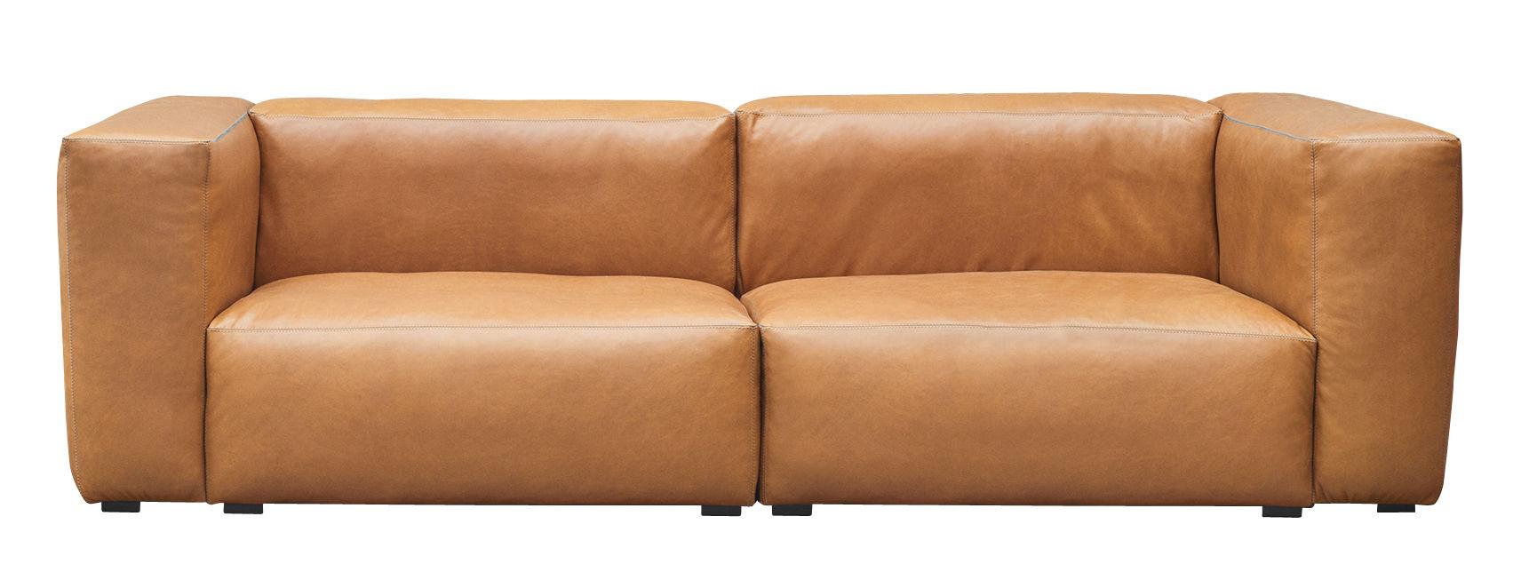 mags soft 2 bis 3 sitzer l 228 cm leder hay sofa. Black Bedroom Furniture Sets. Home Design Ideas
