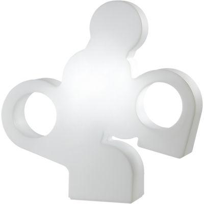 Lampe There / L 100 x H 100 cm - Slide blanc en matière plastique