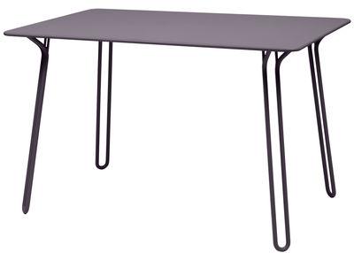 Table Surprising / 120 x 78 cm - Fermob prune en métal