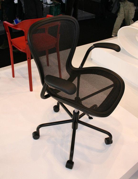 annett armchair on casters black black frame by magis. Black Bedroom Furniture Sets. Home Design Ideas