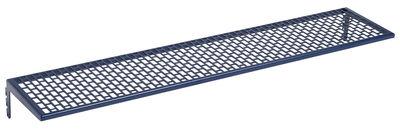 Déco - Paniers et petits rangements - Etagère Large Métal / L 66 cm - Pour panneau Pinorama - Hay - Métal / Bleu foncé - Acier peint