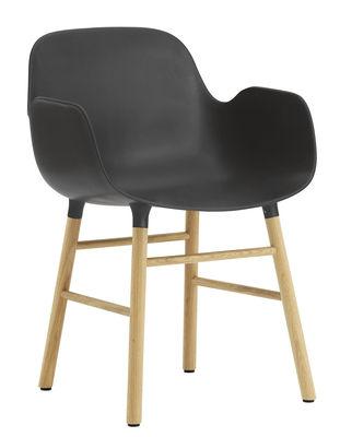 Form Sessel / Stuhlbeine aus Eiche - Normann Copenhagen - Schwarz,Eiche