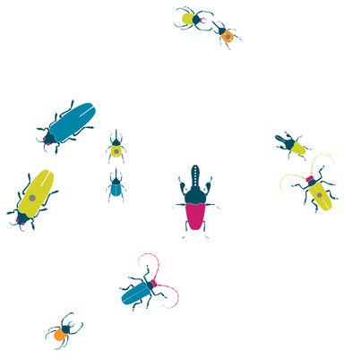 Interni - Sticker - Sticker Insects - Set 5 sticker + 5 calamite di Domestic - Bleu - Vinile