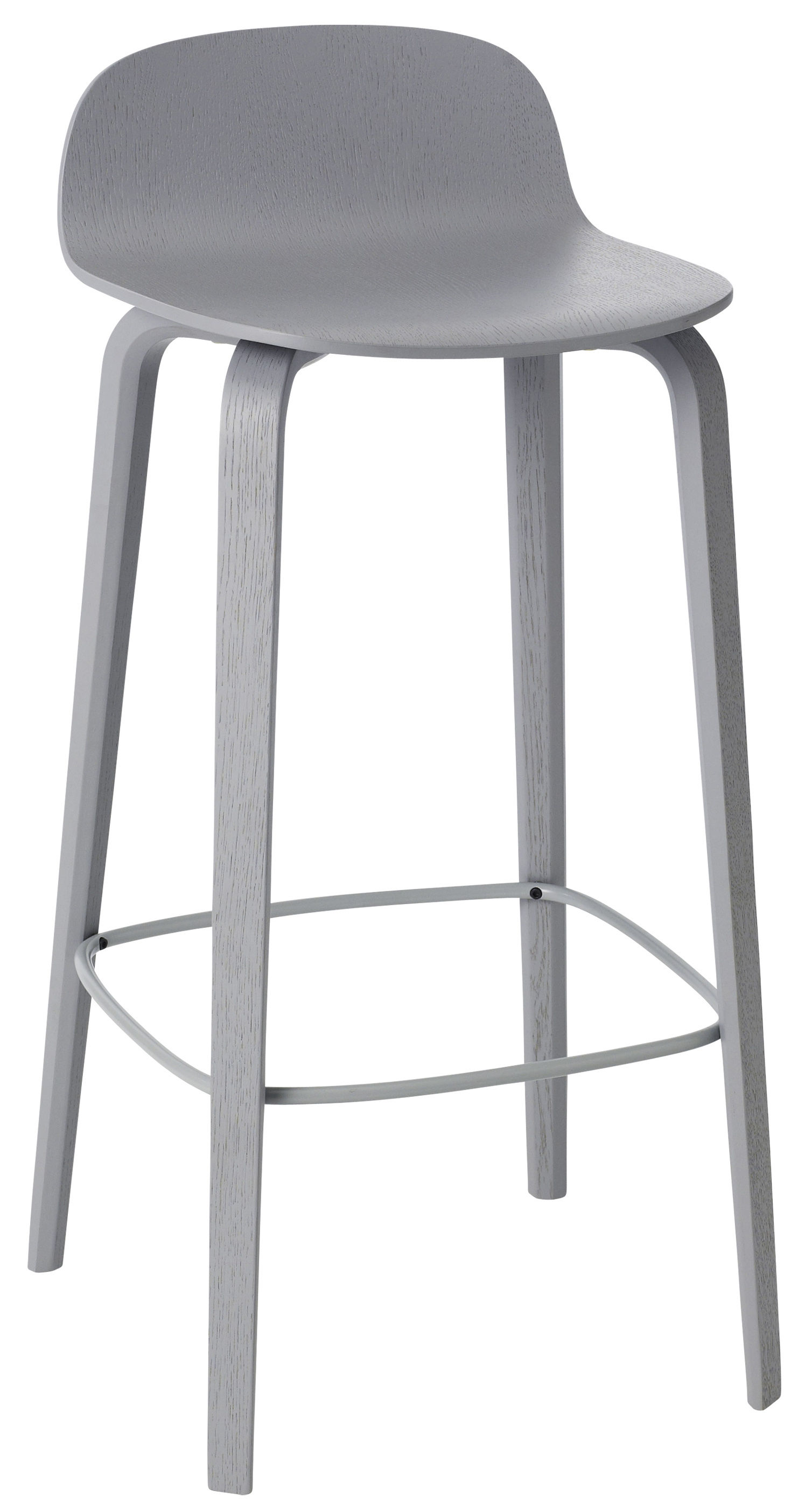 Visu Bar Stool Wood H 75cm Grey By Muuto