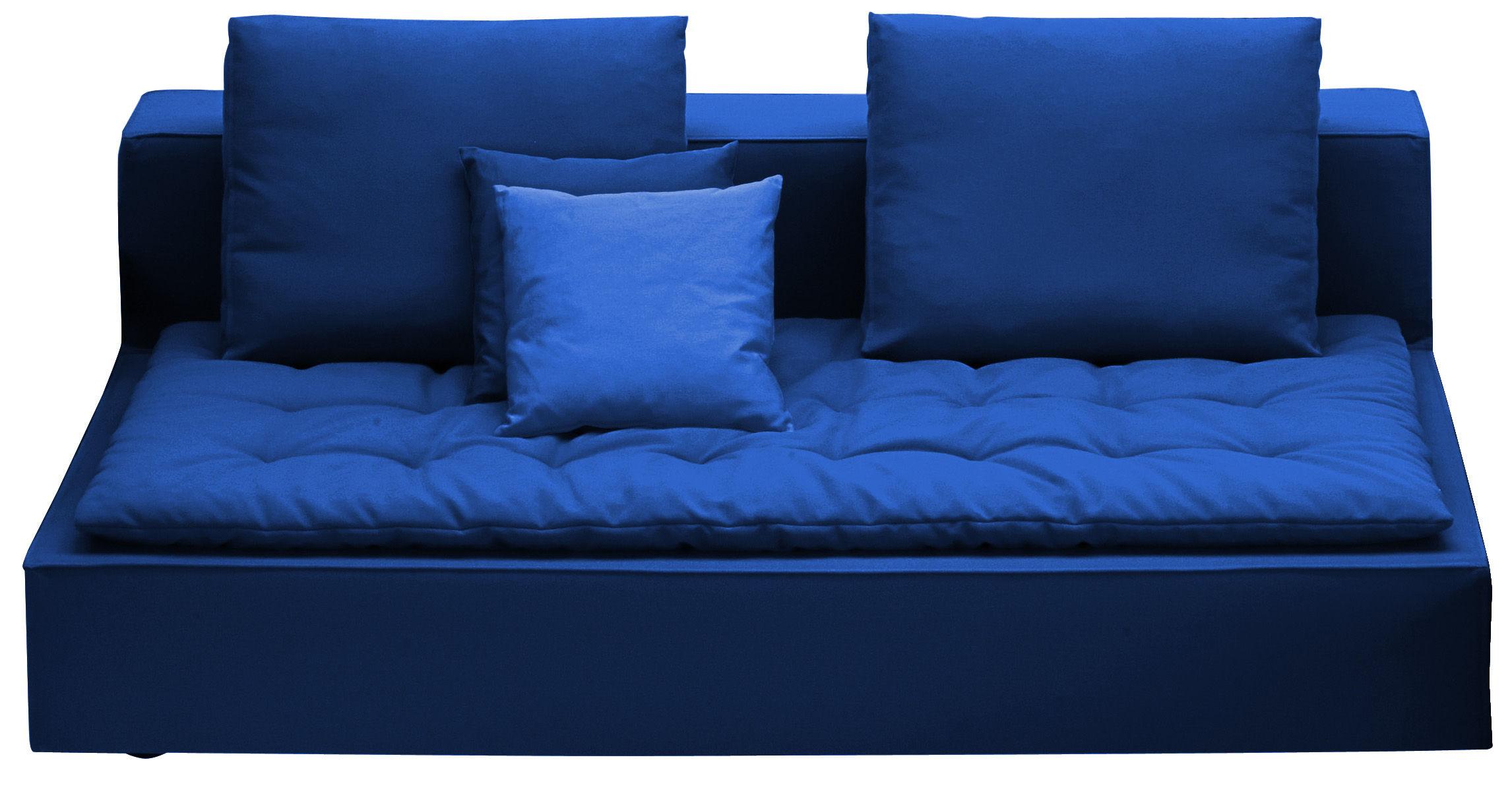 canap droit domino l 223 cm bleu fonc zanotta made in design. Black Bedroom Furniture Sets. Home Design Ideas