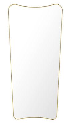 Déco - Miroirs - Miroir mural F.A.33 /  Gio Ponti - L 70 x H 146 cm - Gubi - Laiton - Laiton