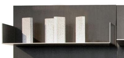 Libreria iWall - scaffale con due bordi - L 78 cm di Zeus - Alluminio - Metallo