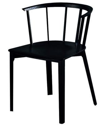 Chaise Deck Bois Glas Italia noir en bois