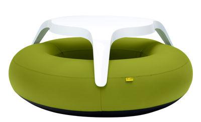 Set table & bancs DoNuts / Gonflable - Ø 190 cm - Blofield rouge en matière plastique