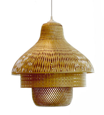 Suspension hanoi 50 x h 50 cm bambou pop corn - Suspension luminaire bambou ...
