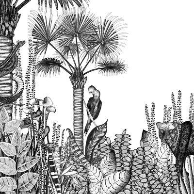 Déco - Stickers, papiers peints & posters - Papier peint The Wild / 3 lés - Bien Fait - Blanc / Noir - Papier intissé
