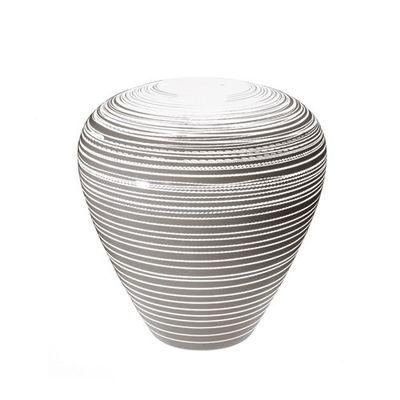 Mobilier - Mobilier lumineux - Pot de fleurs lumineux Grand Mary - Serralunga - Blanc laqué rayé - Polyéthylène