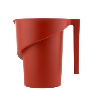 Verre doseur Twisted - Alessi rouge en matière plastique