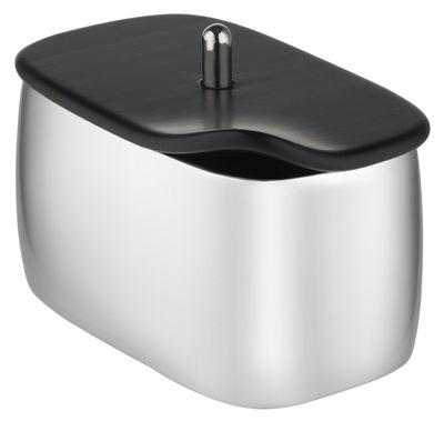 Sucrier Bibo / Avec couvercle - Alessi noir,acier en métal