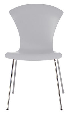 Furniture - Chairs - Nihau Stacking chair - Plastic seat & metal legs by Kartell - Blue Grey - Chromed steel, Polypropylene