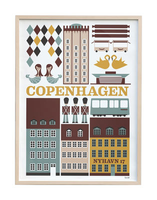 poster copenhagen 30 x 42 cm 29 7 x 42 cm multicolore ferm living. Black Bedroom Furniture Sets. Home Design Ideas