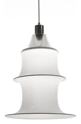 Suspension Falkland H 53 cm - Danese Light blanc en tissu