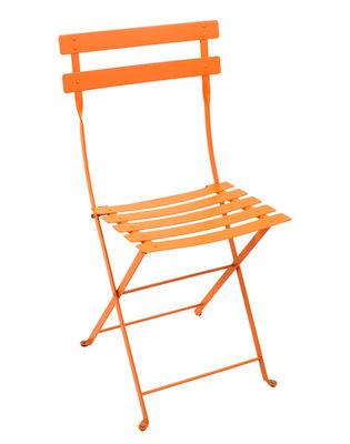 Chaise pliante Bistro Métal Fermob carotte en métal