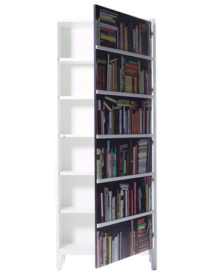 Furniture - Bookcases & Bookshelves - Bookshelf Wardrobe - Cupboard by Skitsch - White - Multicoloured - Lacquered MDF