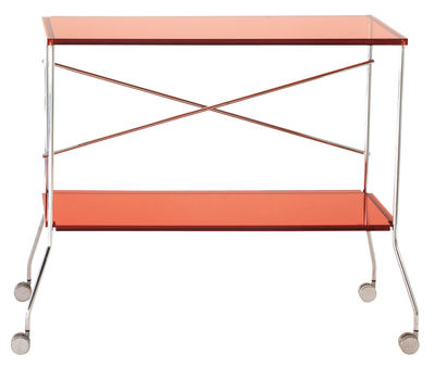 Flip Servierwagen - Kartell - Orange transparent