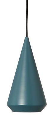 Suspension Simple Shade Modèle d'exposition Frandsen bleu pétrole mat en métal