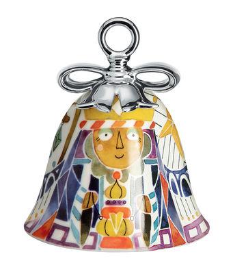 Boule de Noël Holy Family / Cloche Balthazar - Porcelaine peinte main - Alessi multicolore en céramique