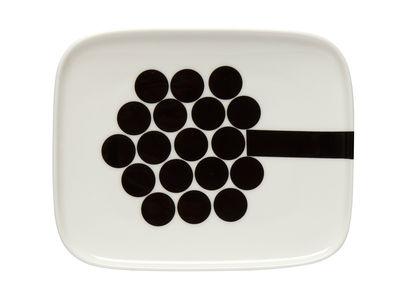 Assiette à dessert Hortensie 12 x 15 cm Marimekko blanc,noir en céramique