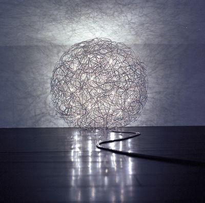 lampe fil de fer outdoor led 50 cm aluminium catellani smith. Black Bedroom Furniture Sets. Home Design Ideas