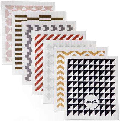 Cuisine - Vaisselle et nettoyage - Lavette A Week / Set de 7 - Ferm Living - Multicolore - Textile