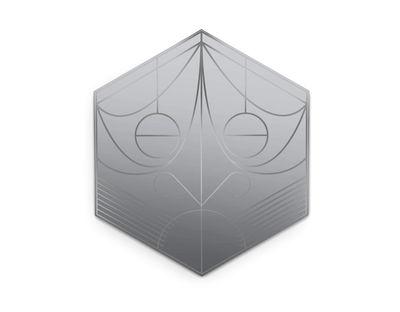 Déco - Miroirs - Miroir mural Mask / Hexagone - H 75 cm - Petite Friture - Hexagone / Plomb - Verre
