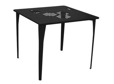 Pattern Tisch 87 x 87 cm - Emu - Schwarz
