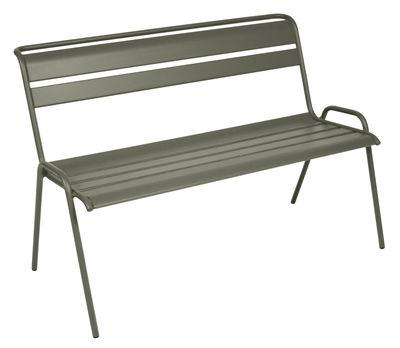 Foto Panca con schienale Monceau / da 2 a 3 posti - L 116 cm - Fermob - Rosmarino - Metallo