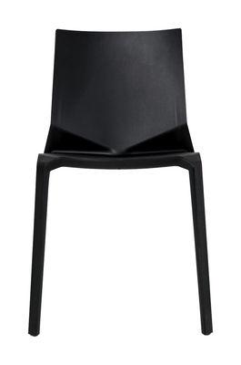 chaise empilable plana plastique noir kristalia made in design. Black Bedroom Furniture Sets. Home Design Ideas