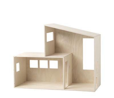 Etagère Funkis Small / Maison de poupées - L 47 x H 36 cm - Ferm Living bois naturel en bois