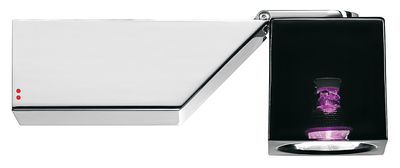 Applique Cubetto Black Glass orientable Fabbian noir,violet en métal