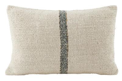 sweep kissen 30 x 50 cm beige streifen blau gold by house doctor made in design. Black Bedroom Furniture Sets. Home Design Ideas