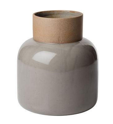 Vase Large / H 21 cm - Faïence Japonaise - Fritz Hansen beige,gris mousse en céramique